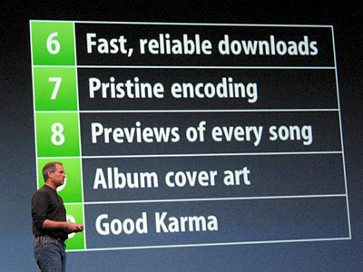 Steve Jobs announces iTunes in 2003